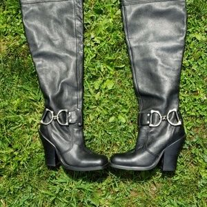 Colin Staurt Over The Knee Leather High Heel Boots